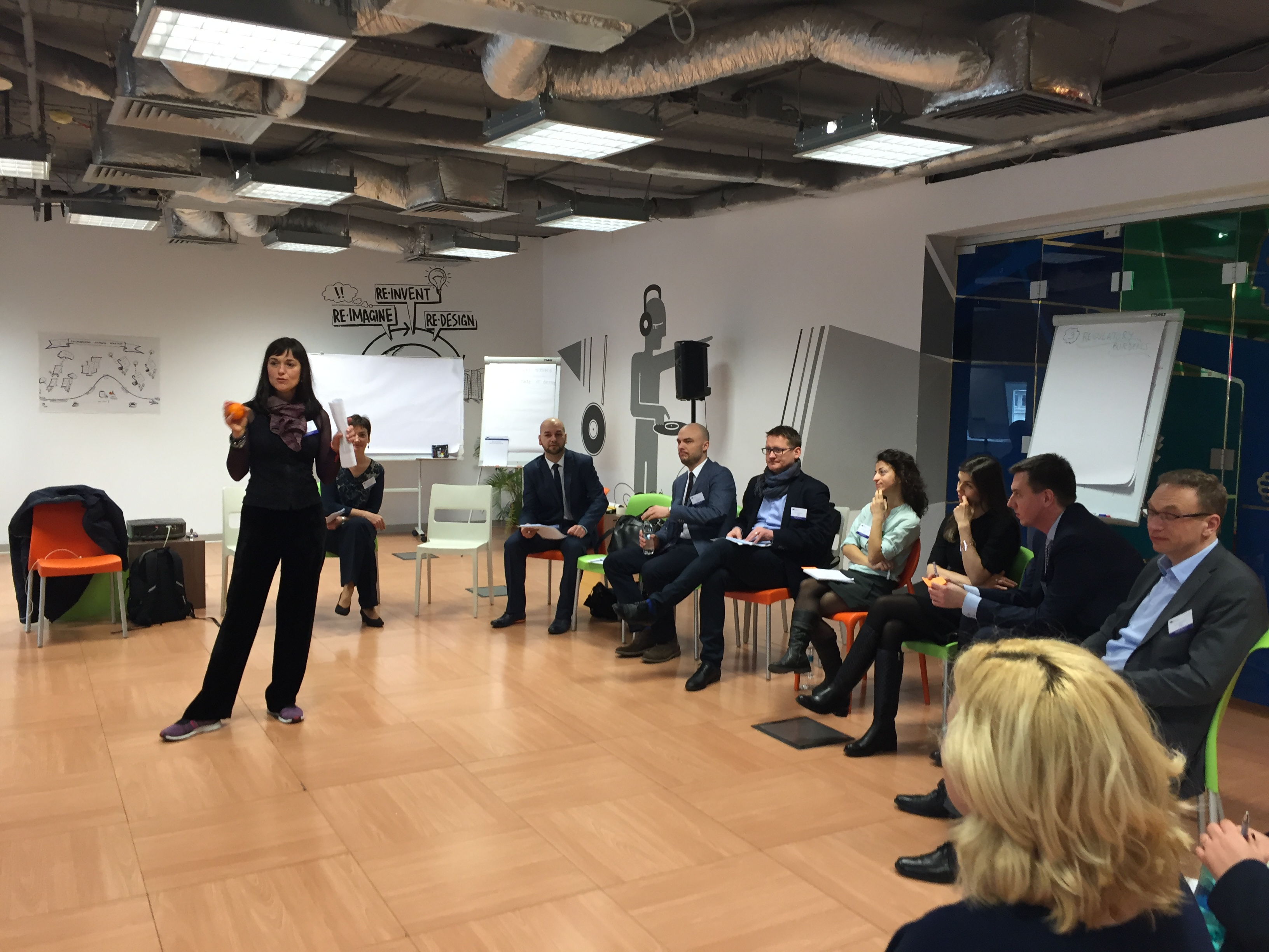 Pictures from the workshop with the Romanian and Polish entrepreneurs, March 3, 2016