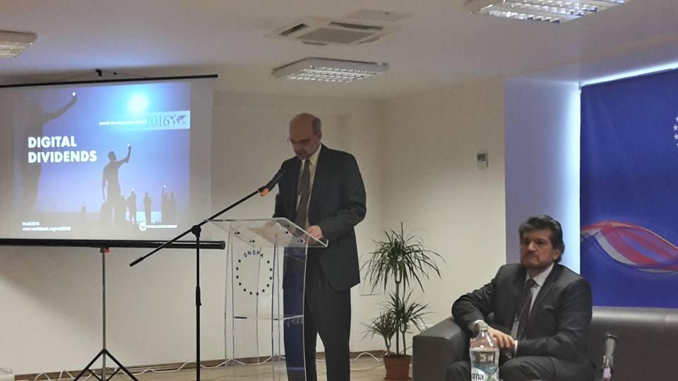 Uwe Deichmann si Zahid Hasnain World Bank la SNSPA