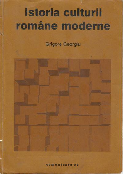 Istoria culturii române moderne, coperta ediției din 2002, editura Comunicare.ro